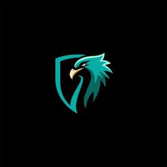 Logotipo de cor cheia de águia