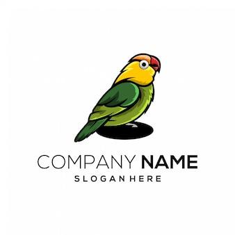 Logotipo de cor cheia de pássaro de amor