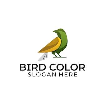 Logotipo de cor de pássaro de conceito moderno