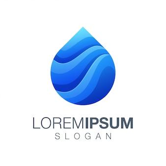 Logotipo de cor gradiente de água