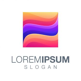 Logotipo de cor gradiente de caixa