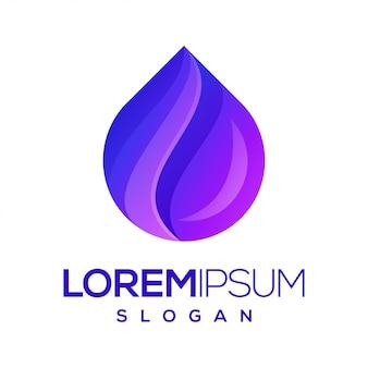 Logotipo de cor gradiente de inspiração de água