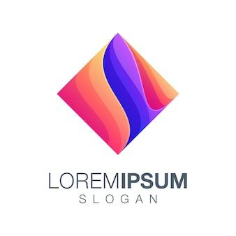 Logotipo de cor gradiente de inspiração de caixa