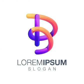 Logotipo de cor gradiente letra b