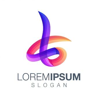 Logotipo de cor gradiente letra l