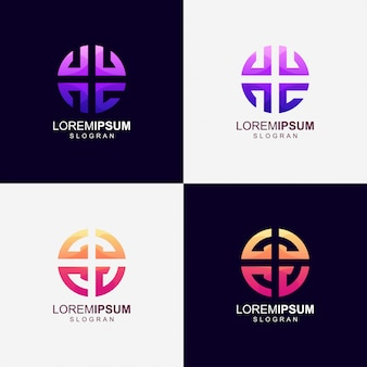 Logotipo de cor gradiente redondo