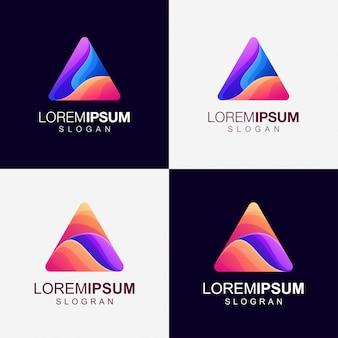 Logotipo de cor gradiente triângulo