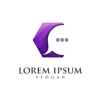 Logotipo de cor incrível mensagem hexágono