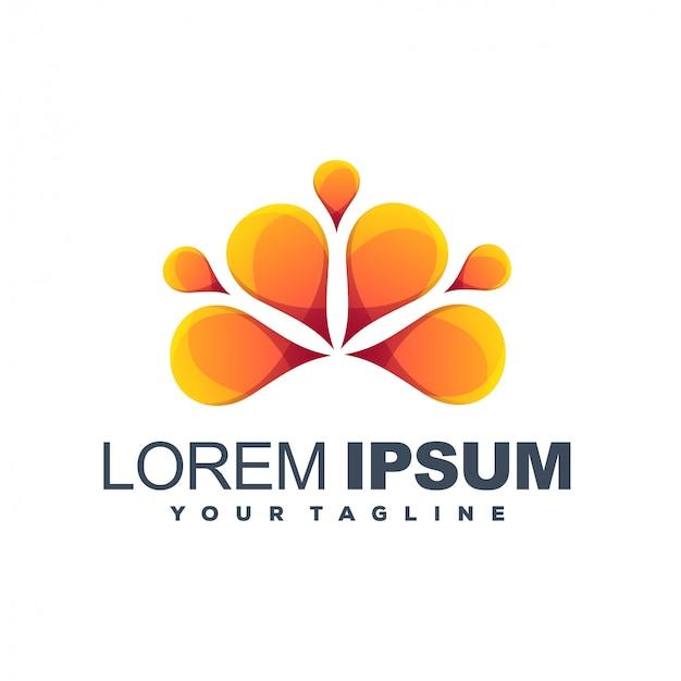Logotipo de cor laranja limão