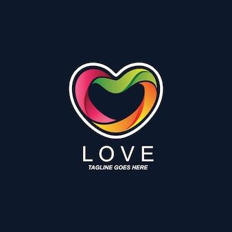 Logotipo de coração colorido