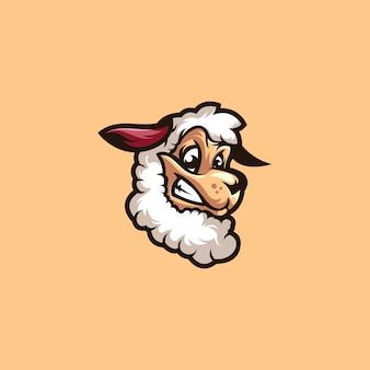Logotipo de cordeiro de ovelha