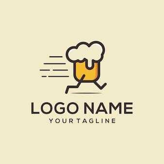 Logotipo de corrida de cerveja
