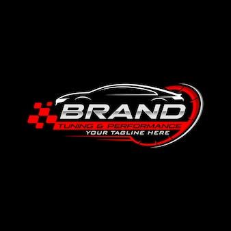 Logotipo de corridas de carros