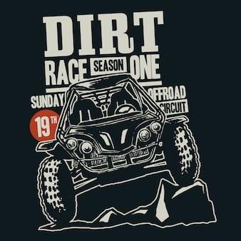 Logotipo de corridas offroad