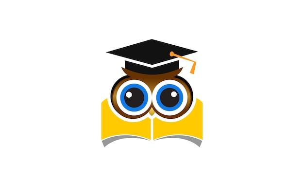 Logotipo de coruja de educação