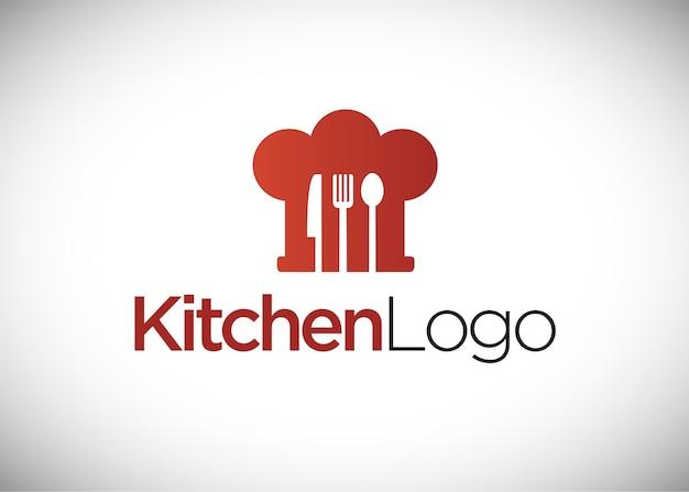 Logotipo de cozinha, chapéu de chef, logotipo de cozinha.
