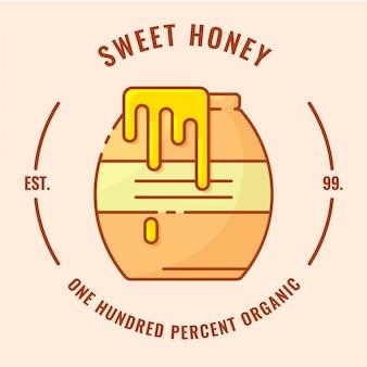 Logotipo de crachá de mel