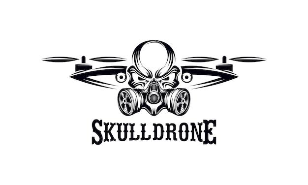 Logotipo de crânio drone