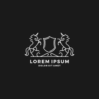 Logotipo de crista de cavalo