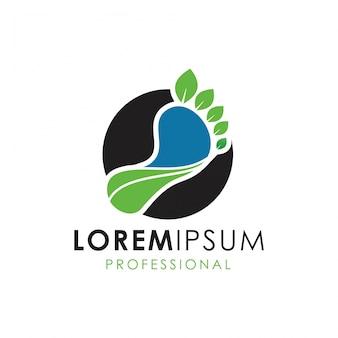 Logotipo de cuidados com a natureza