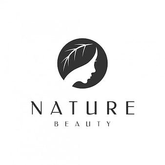 Logotipo de cuidados de beleza natureza