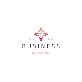 Logotipo de cuidados de beleza