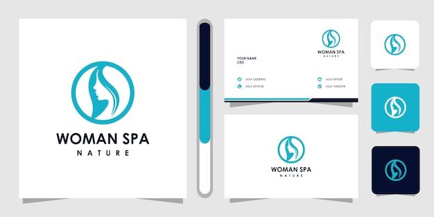 Logotipo de cuidados de pele beleza criativa. conceito de logotipo de terapia de spa.