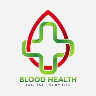 Logotipo de cuidados de saúde de sangue