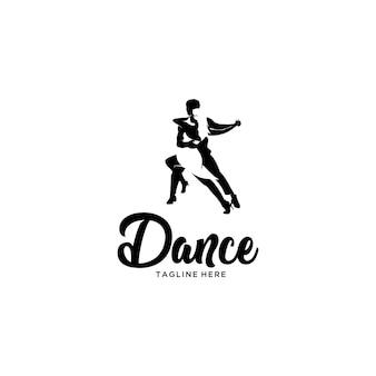 Logotipo de dança de tango de silhueta