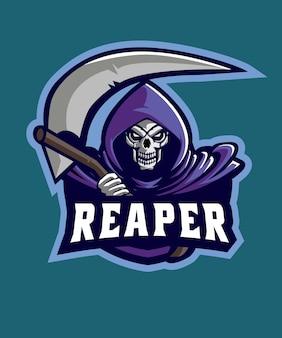 Logotipo de dark reaper e sports