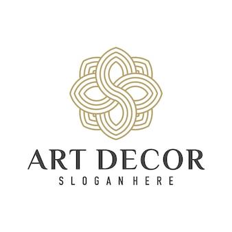 Logotipo de decoração de interiores