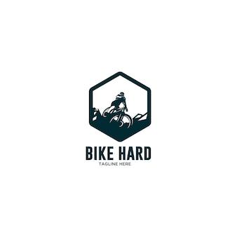Logótipo de descida de ciclismo extremo