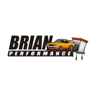 Logotipo de desempenho automático