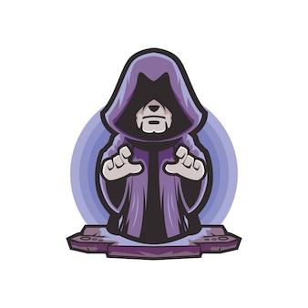 Logotipo de desenho animado de assistente