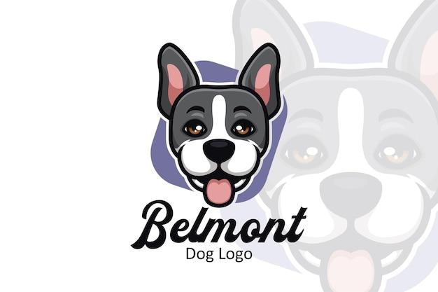 Logotipo de desenho animado para cachorro com conceito criativo e elegante