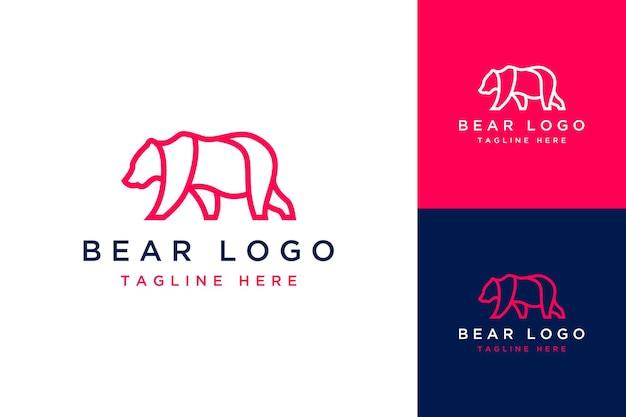 Logotipo de desenho de animal ou urso