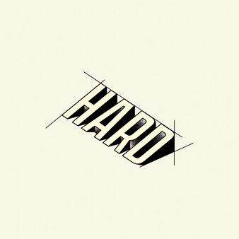 Logotipo de desenho de texto rígido