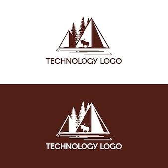 Logotipo de desenvolvimento de tecnologia