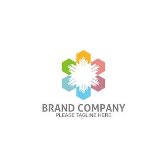 Logotipo de design de energia elétrica