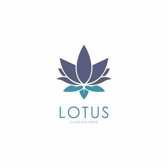 Logotipo de design de flor de lótus