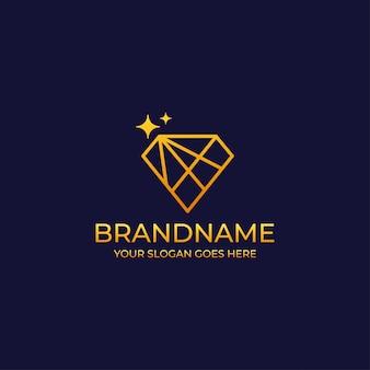 Logotipo de diamante de luxo