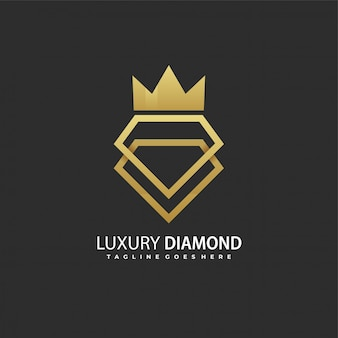 Logotipo de diamante de luxo