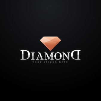 Logotipo de diamante sofisticado