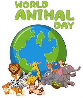 Logotipo de dias de animais selvagens