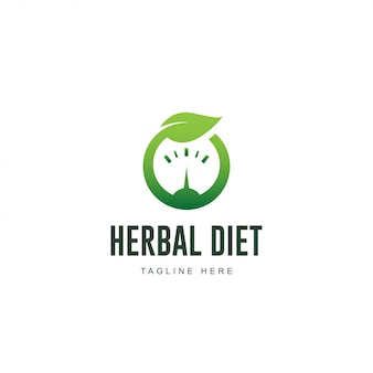 Logotipo de dieta à base de plantas