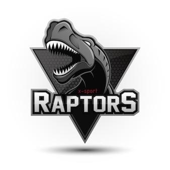 Logotipo de dinossauro profissional moderno para uma equipe de esporte