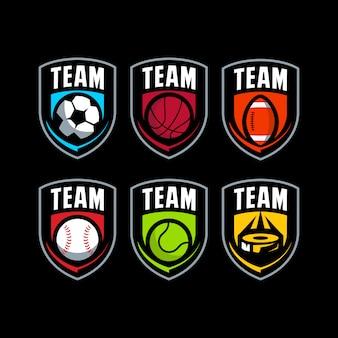 Logotipo de distintivo de bola esporte