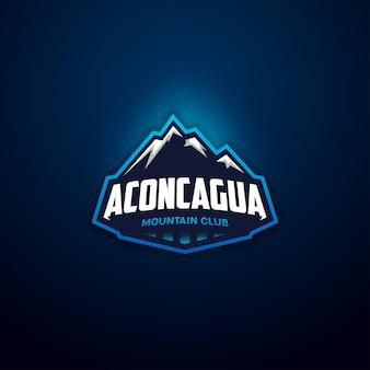 Logotipo de distintivo de clube de montanha moderna