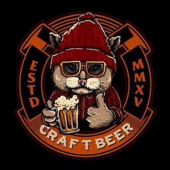 Logotipo de distintivo de emblema de cerveja