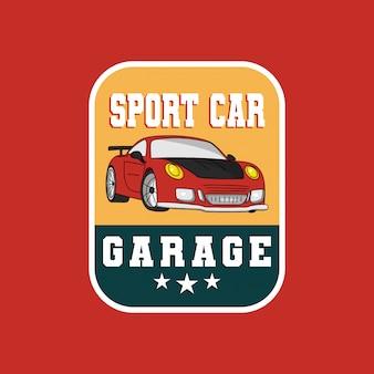 Logotipo de distintivo de garagem de carro esporte